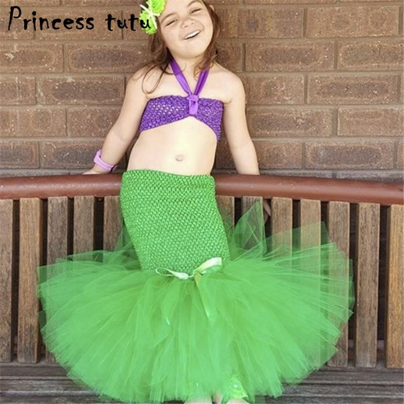 2018 Princess Tutu Ariel Dress The Little Mermaid Costumes For Girls Dress Kids Clothes Halloween Cosplay Mermaid Tail Suit K041 From Newyearable ...  sc 1 st  DHgate.com & 2018 Princess Tutu Ariel Dress The Little Mermaid Costumes For Girls ...
