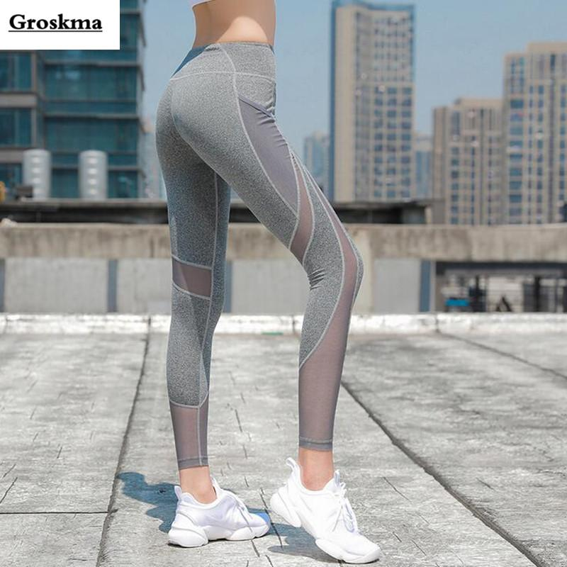 204b8122784 Women Sexy Mesh Patchwork Yoga Pants Ropa Deportiva Mujer Gym Woman Fitness  Running Scrunch Butt Sport Leggings Jogging Femme Yoga Pants Cheap Yoga  Pants ...