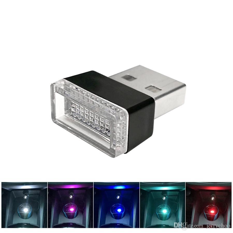 Éclairage Bleu Rouge Décorative Pc Blanc Lumières D Portable Urgence Universel Voiture Led Rose Usb Atmosphère Lampe MVpqUGSz