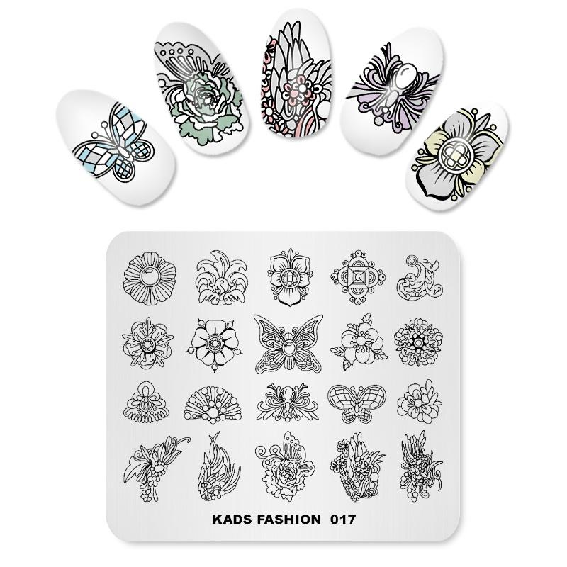 Missguoguo Nail Art Stamping Stamp Template Butterfly Pattern