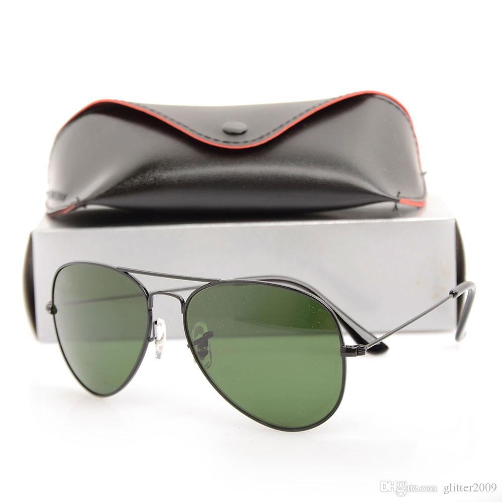 c2a9f8946a8 New Style Pilot Sun Glasses 62mm New Mans Womans Sunglasses Glass Lens  Fashion Brand Designer Sunglasses Unisex Glasses With Original Cases  Baseball ...