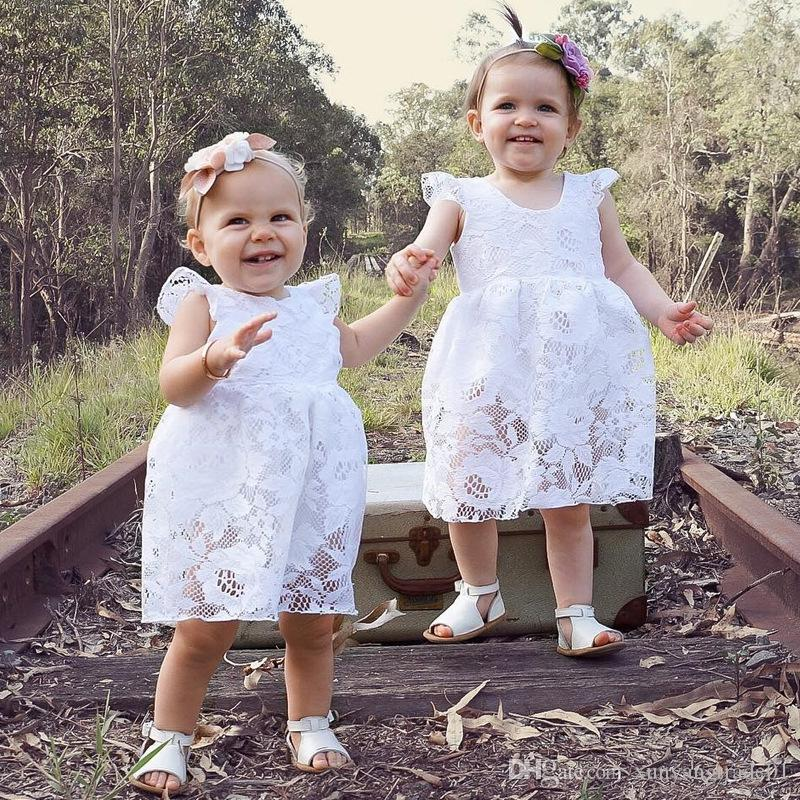 2018 Baby Girls Clothes Ins Summer Fly Sleeve Infant Newborn Baby