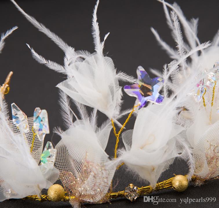 Feder Headwear, Braut Haar, süße, intelligente Haarschmuck, Braut Hochzeit, Accessoires, Hochzeitskleid Zubehör.