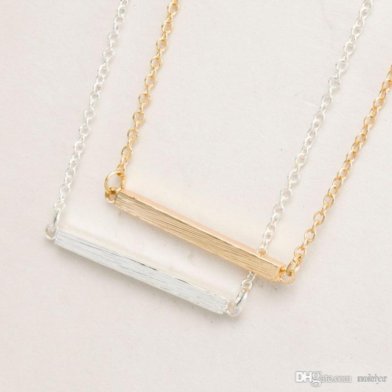 Wholesale Fashion Personalized Vertical Bar Necklace