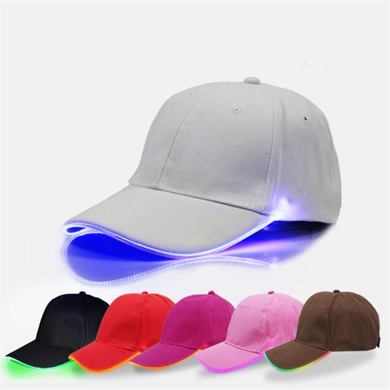 09586f3b44e 2019 LED Baseball Caps Night Luminous Ball Hat Changing Mode Flash LED  Light Snapbacks Women Men Teenage Peak Cap Sports Fishing Hats Sunhats From  ...