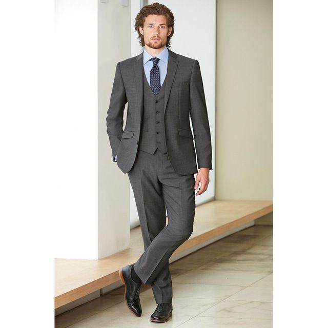 Acquista Nuovo Stile Smoking Smoking Grigio Uomo Suit 3 Pezzi Giacca +  Pantaloni + Vest + Tie Slim Fit Tuxedo Prom Custom Made Groom Blazer 262 A   158.1 Dal ... df5411c61bb