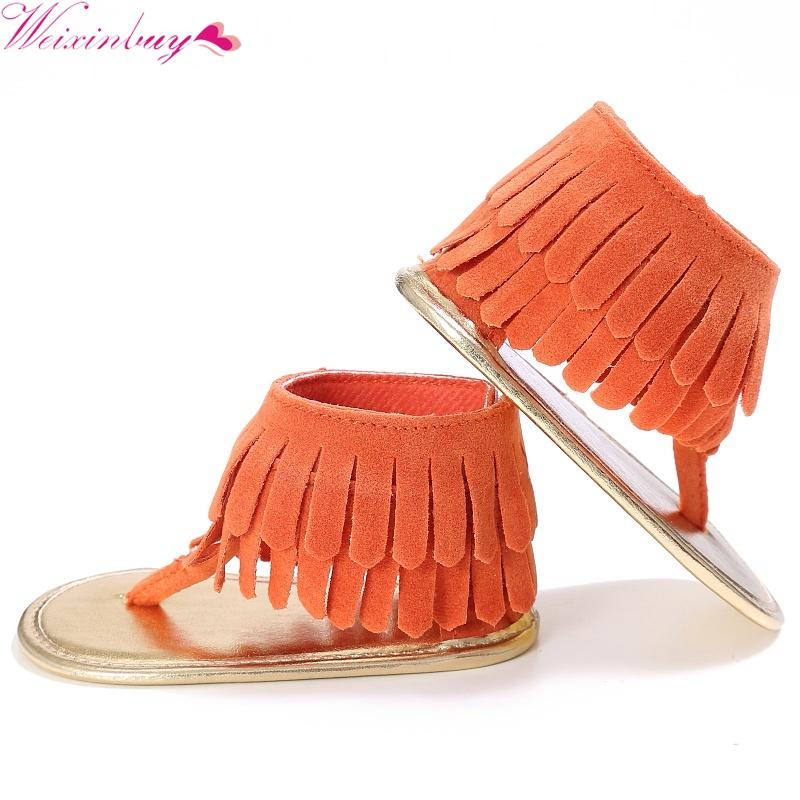 ecca63842bb1 Baby Girls Summer Sandal Breathable Tassel Shoes Anti Slip Flip Flop  Newborn Sandal 0 18M Kids Shoes On Sale Online Kids Shoes And Sandals From  Cassial