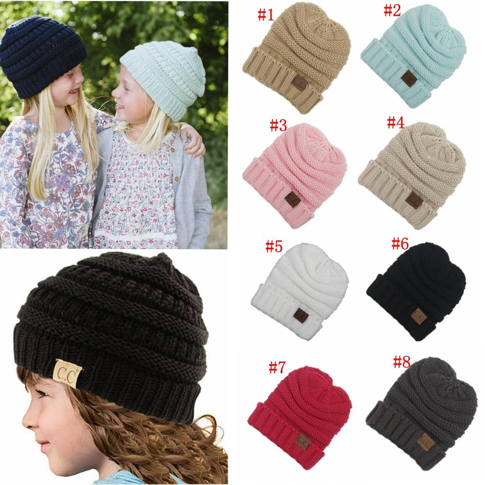 33548e5fb26 Kids Knitted Warm Cotton Beanie Skull Cc Hats Children S Crown Hat Caps  Christmas Gift Mma463 Women Hats Cool Beanies From Good sunglasses