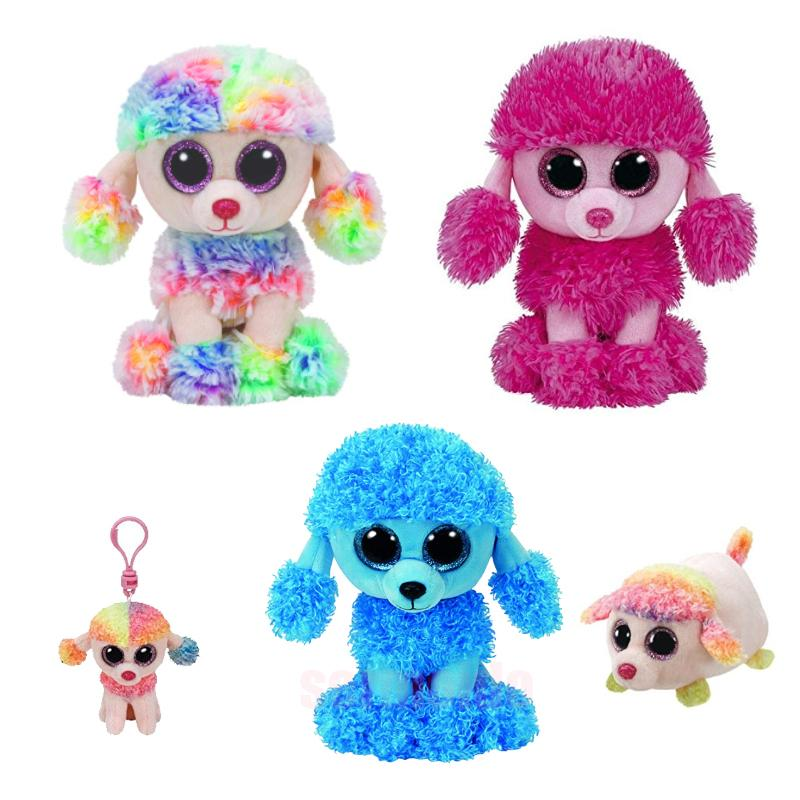 2b789e3cd64 2019 Ty Beanie Boos PATSY Rainbow Mandy PATSY Poodle Dog Kawaii Stuffed  Animals Collection Plush Toys From Cover3085