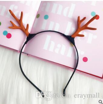 2019 Christmas Headbands Hair Hoop Clips Cute Deer Antlers Head Band  Holiday Party Jewelry For Adults Kids 382 From Eraymall 1fa21d8964f