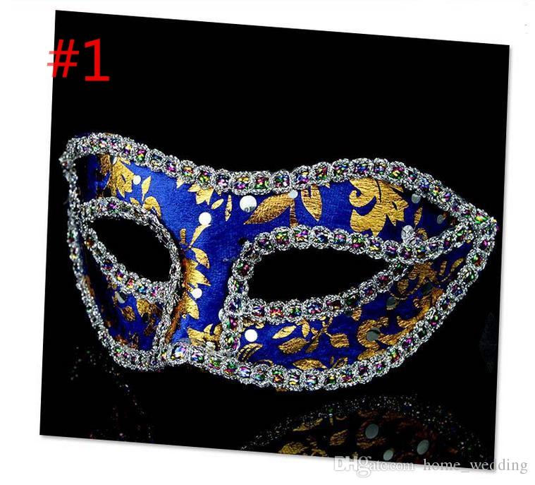 200pcs/lot Unisex Halloween Party Mask With Eyeline Fox Half Face Masquerade Girls Masks For Female Dancing Wear Cosplay