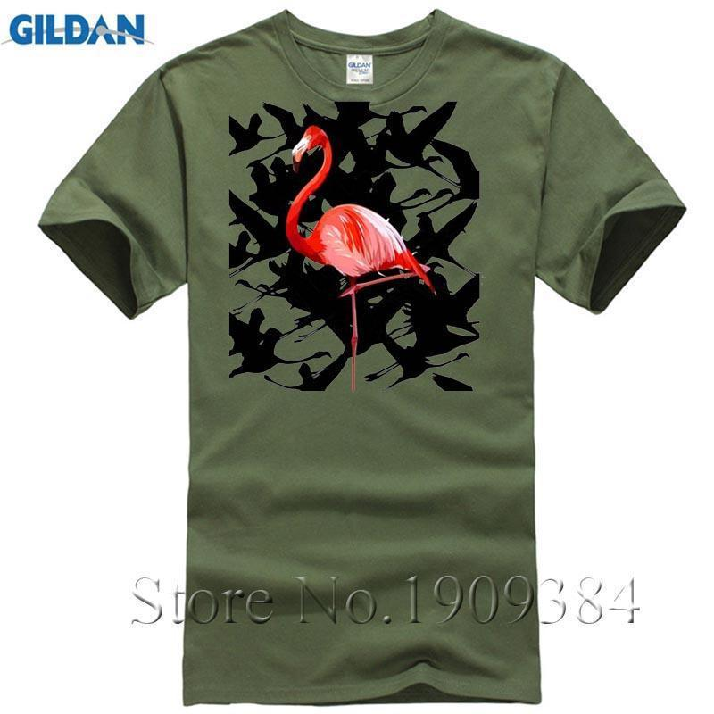 Moda Divertido Streetwear Hombres Homme Camiseta Camisetas Los Camisa Hombre 2017 De Ropa Blanca Flamingo Marca 3RALj54