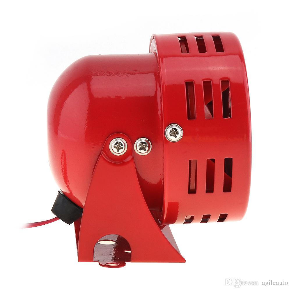 Универсальный 12V Красный автомобильная мотоцикл Рога сирена воздушной тревоги Рог автомобиль грузовик мотор driven тревога громкоговоритель AUP_44B