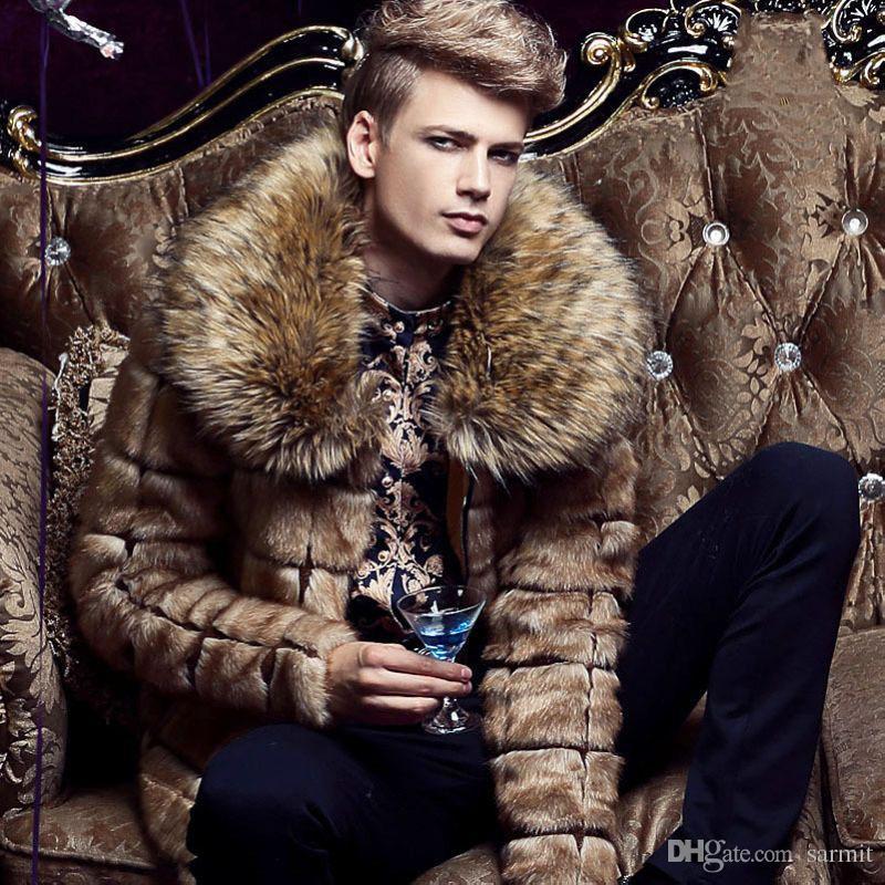 8da55d96a4 2019 LUXURY Men Faux Fur Coat Fluffy Coat Fake Fur Coats Shaggy Coat F0431  M 3XL Long Sleeve From Sarmit, $83.25 | DHgate.Com
