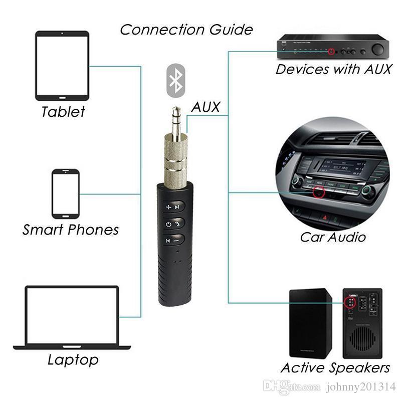 Universal-3,5-mm-Buchse Bluetooth Car Kit Hände frei Musik Audio-Empfänger-Adapter Auto AUX-Kit für Lautsprecher Kopfhörer Car Stereo