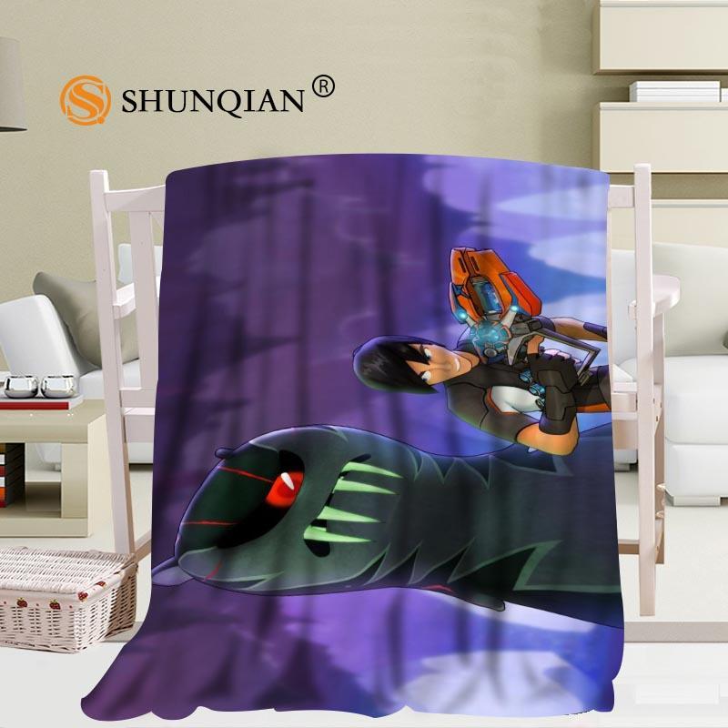 custom slugterra ghouls pattern travel blanket home tv casual relax