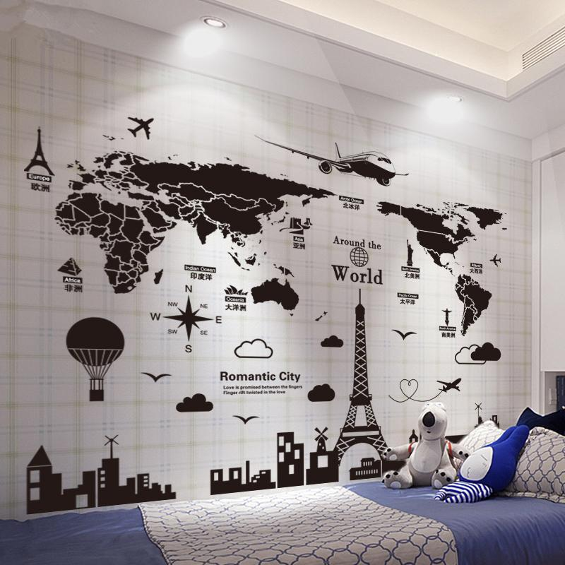 of the world wall stickers pvc material european architecture wall