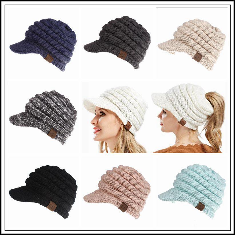 Compre es De Invierno De Punto Cc Sombreros Cc Punto Gorros Moda ...