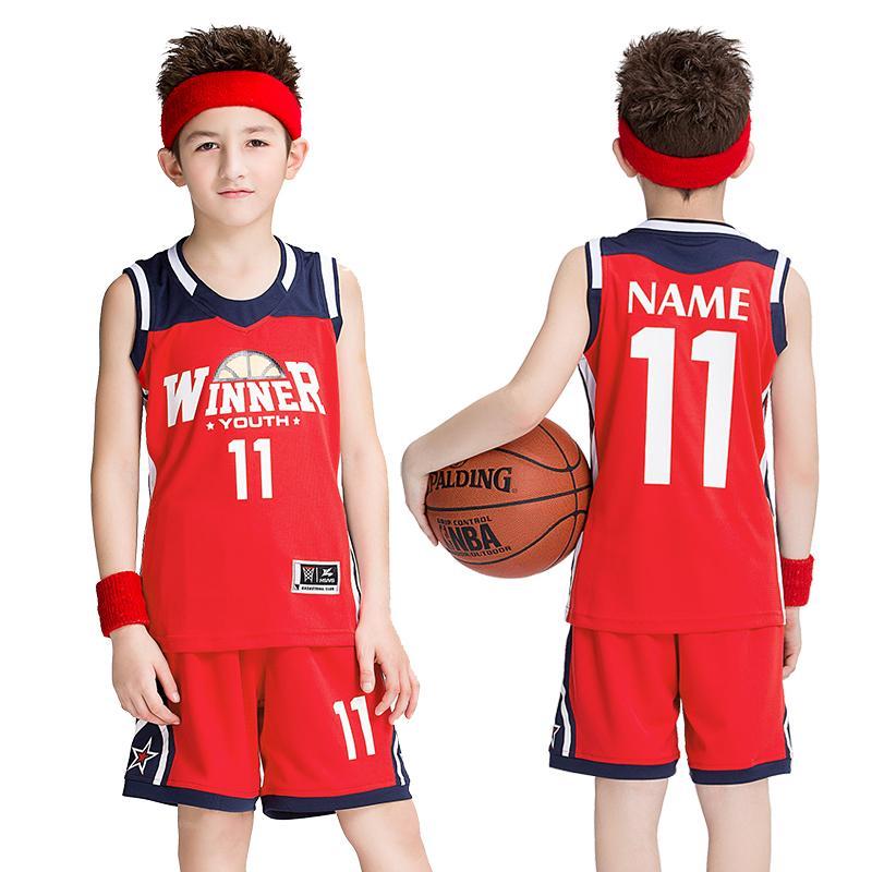 9ec43cc3ceee Basketball Uniform Children  s Suits Pupils Jerseys Sleeveless Custom  Kindergarten Kids Sports Suit