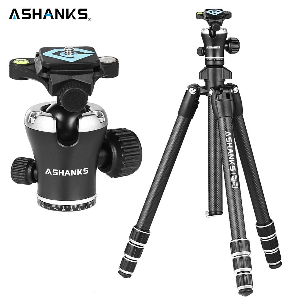 wholesale A666C Carbon Camera Tripod 8KG 55.1''/140cm Professional Video Tripod with Dslr VIDEO Tripod Ball Head for Photography
