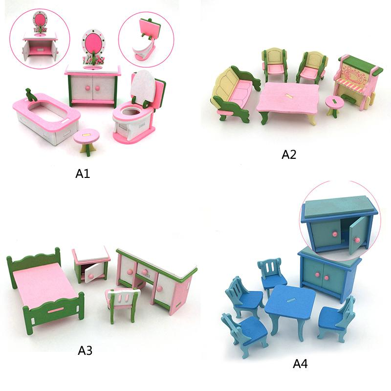 Kids 1:16 Miniature Wooden Imitate Doll Houses Furniture Household Toys  Bathroom Set Bathtub Closest Toy P5 Dolls House Wooden Victorian Dollhouse  Furniture ...