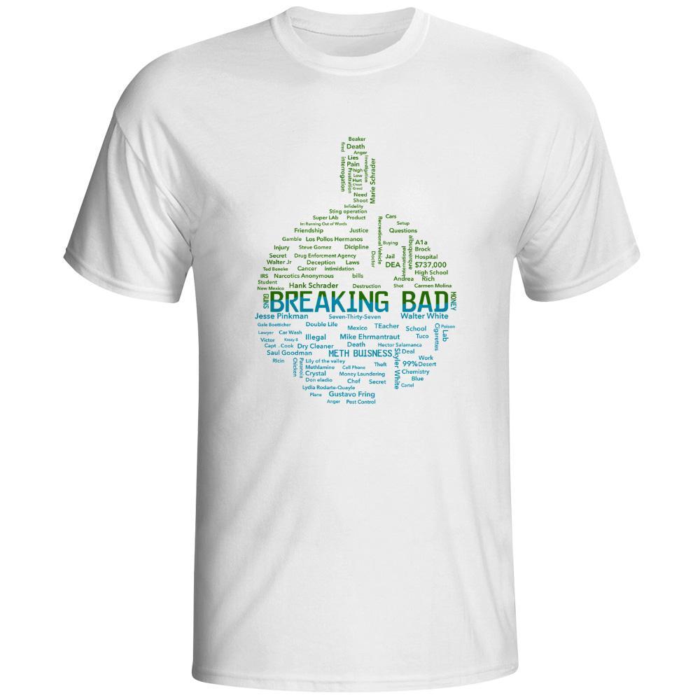 90efd7bcc4f Satın Al Breaking Bad Beaker T Gömlek Kaya Paten Yenilik Heisenberg Kimya Dünya  T Shirt Serin Moda Yaratıcı Pop Punk Unisex Tee