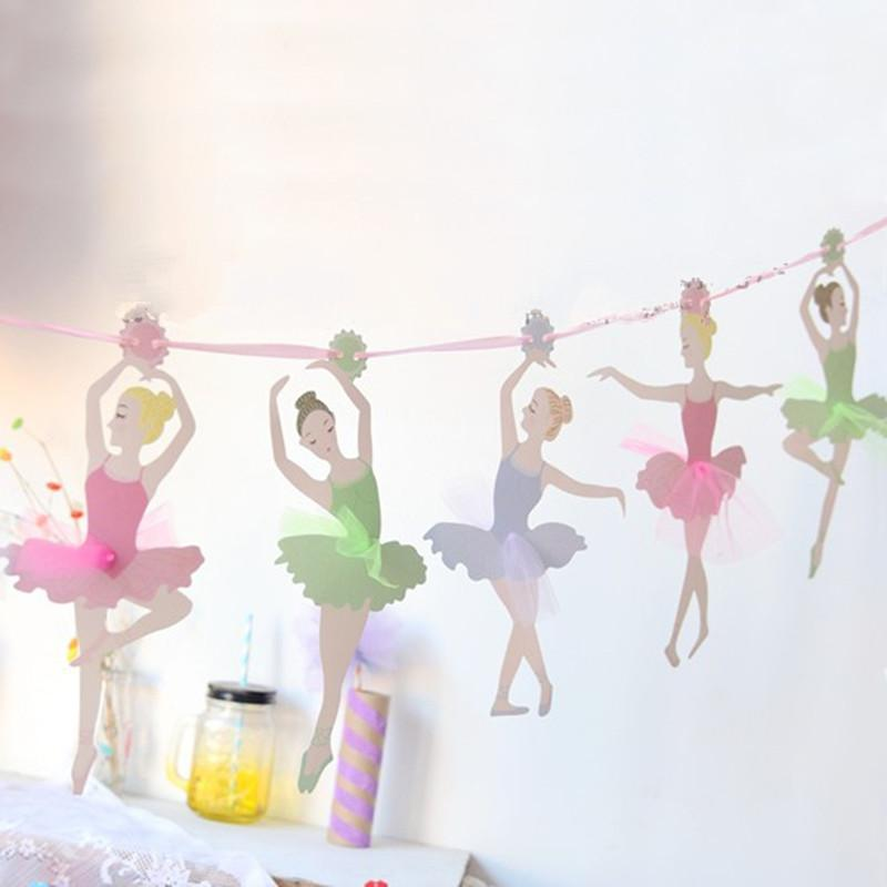 232a176fa17c 2019 3.5m Ballet Girls Banners Party Decor Kids Birthday Event ...