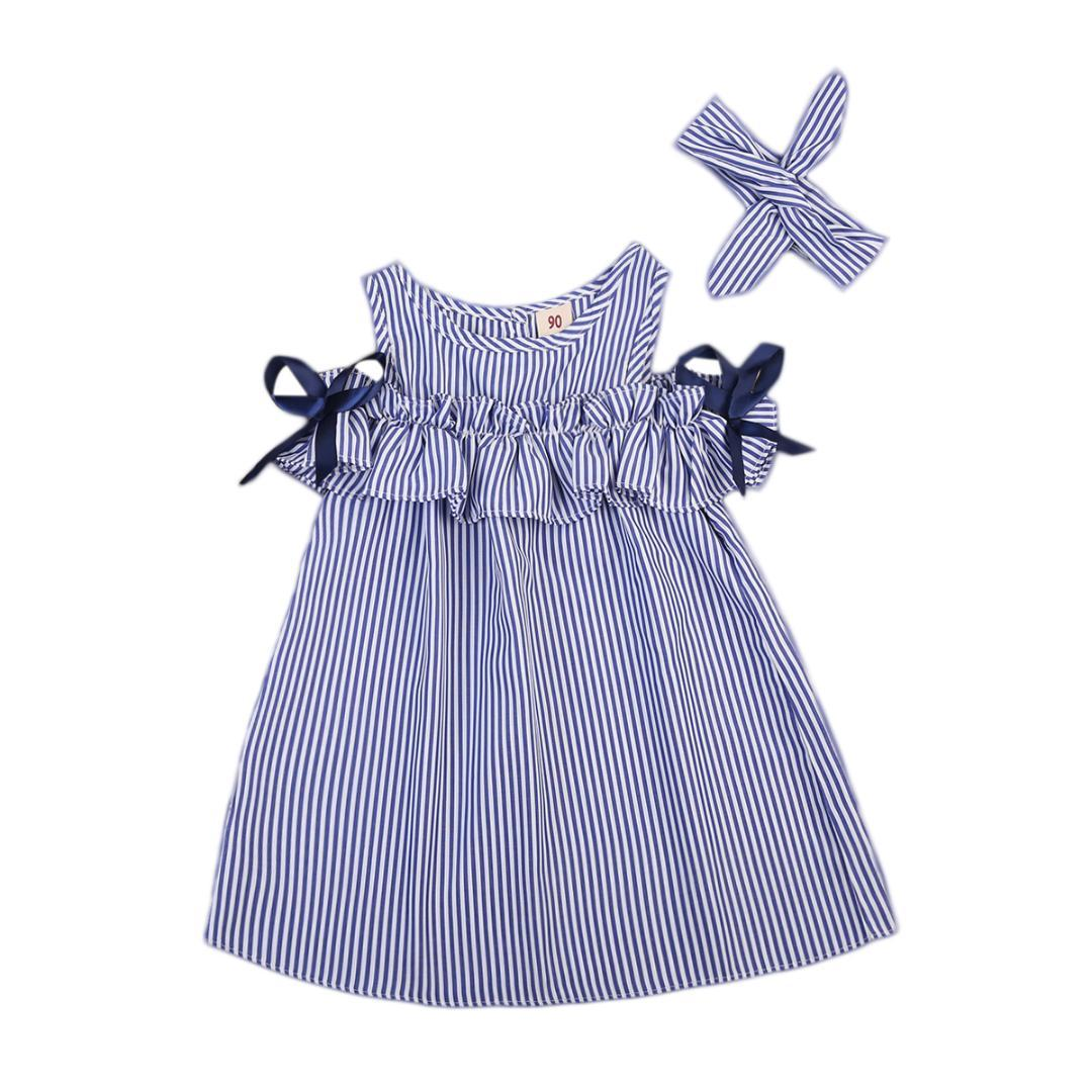 858f9f518 2018 New Hot Summer Toddler Kids Baby Girls Lovely Clothes Blue ...