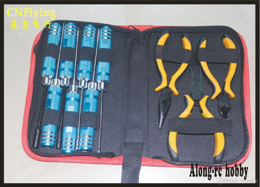 حرية الملاحة: إصلاح أدوات RC هواية نموذج 10 في 1 أدوات حقيبة للطائرة RC سيارة قارب X-UAV أدوات تجميع