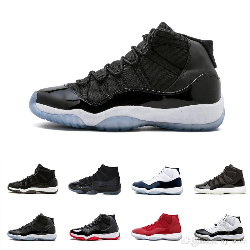 ad611862754 Prom Night 11 Xi 11s Black Out Prm Heiress Black Stingray Gym Red Chicago  Midnight Navy Space Jams Men Basketball Shoes Sports 41 47 Shoes Brands  Basketball ...