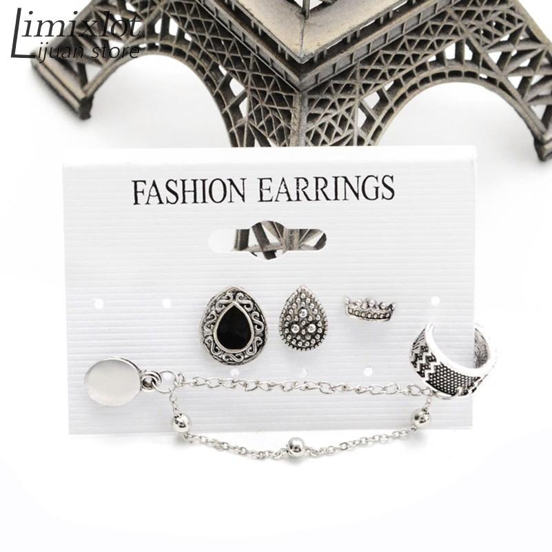 Hot nuovo dell'orecchio di modo del polsino alla moda personalità orecchini di lusso clip della Boemia delle donne di stile commercio all'ingrosso dei monili