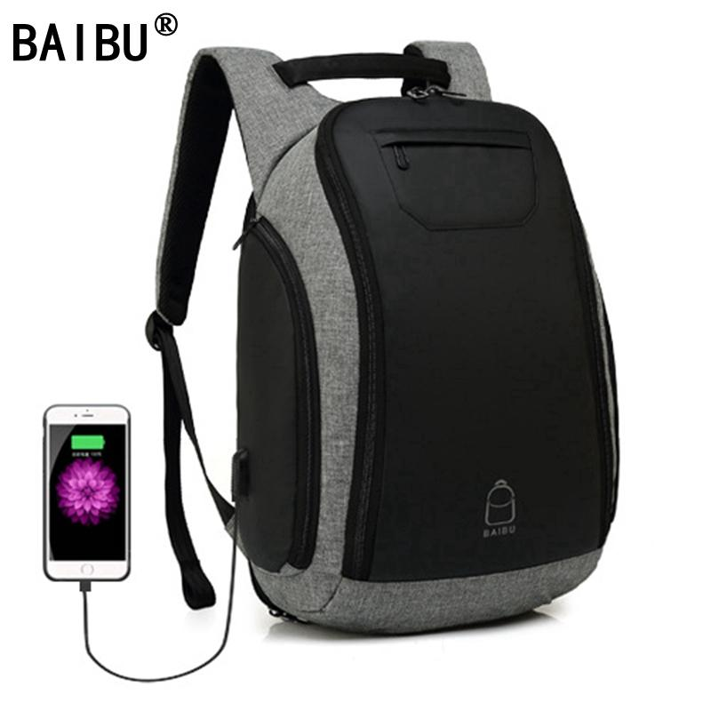 2222abea4abc BAIBU Multifunction USB Charging Men 15inch Laptop Backpacks For Teenager  Fashion Mochila Leisure Travel Backpack Anti Thief High Quality Backpacks  Laptop ...