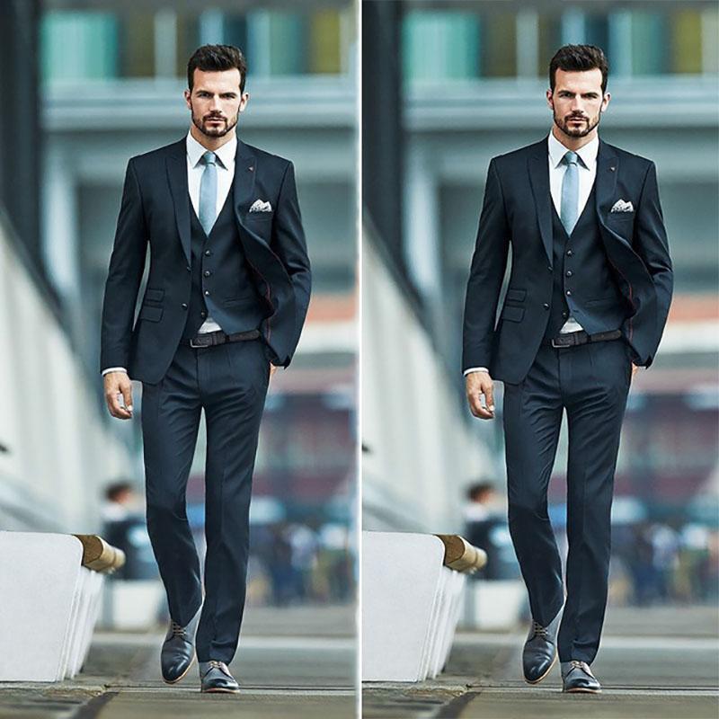Acquista Abito Da Uomo Slim Fit In Cotone Uomo Giacca Da Uomo Best Man  Smoking In Smoking 3 Pezzi Abiti Uomo Con Pantaloni Ternos A  197.12 Dal  Cashmere52 ... 8173eeb8994