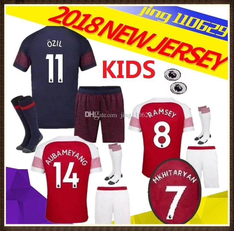 separation shoes 5cfd6 6bd67 18 19 KIDS ArsENal soccer jersey kids KIT 2018 2019 LACAZETTE MKHITARYAN  XHAKA RAMSEY WILSHERE OZIL AUBAMEYANG home away football shirts Se