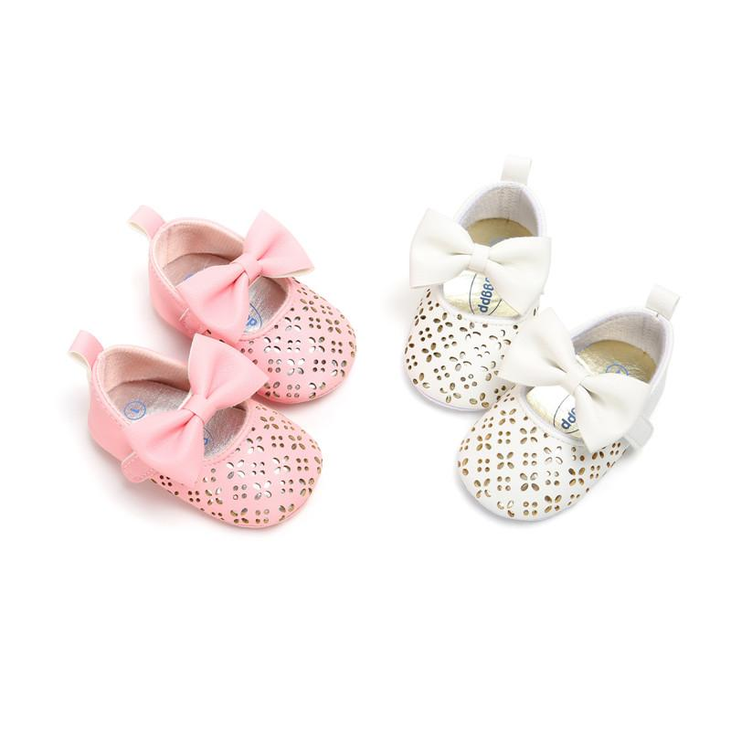 Cute Toddler Baby Girls Shoes Soft Bottom Shoes Polka Dots Bow-knot Prewalker For Kids First Walkers Baby Shoes