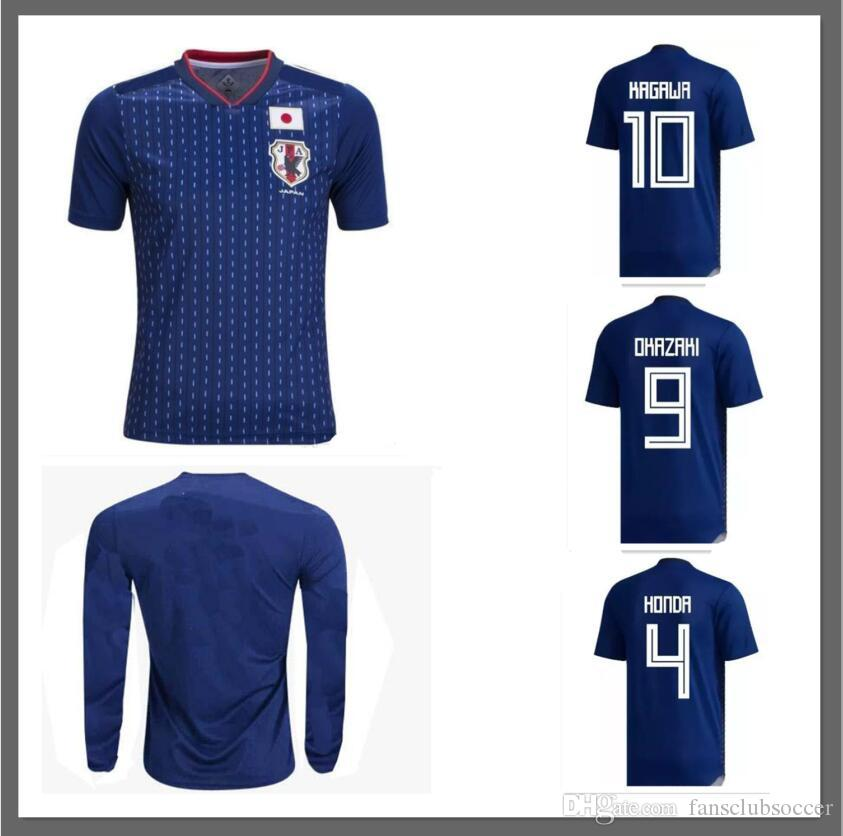 ... new product 0f9bc 71acd Discount Long Sleeve 2018 World Cup Japan Soccer  Jersey 2018 Japan Home ... 5b34fb83f
