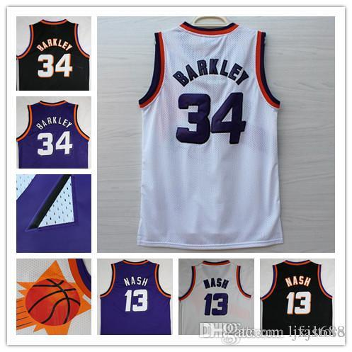 Discount High Quality Men #13 Steve Nash Jersey Throwback Mesh #34 Charles  Barkley Basketball Jersey 100% Embroidered Logo From China | Dhgate.Com