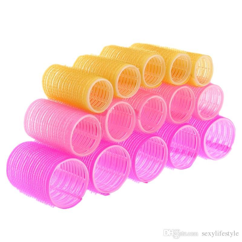 15 teile / los Friseur Heimgebrauch DIY Magie Große Selbstklebende Lockenwickler Styling Roller Roll Lockenwickler Schönheit Werkzeug 3 Größe