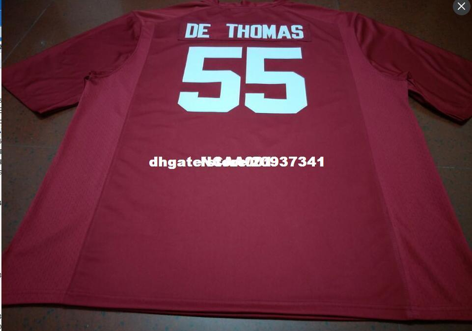 2018 Cheap Men  55 Derrick Thomas Alabama Crimson Tide Top High Quality Red  Black White College Jersey Or Custom Any Name Or Number Jersey From ... e00a86256