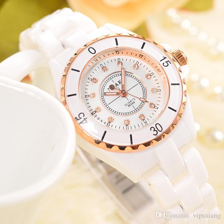 Women Costume Dress Fashion Watch Acrylic Case Luxury Brand 50atm Waterproof Watches Ladies White Ceramic Strap Diamond Wristwatch Nice Gift Chronograph ...  sc 1 st  DHgate.com & Women Costume Dress Fashion Watch Acrylic Case Luxury Brand 50atm ...