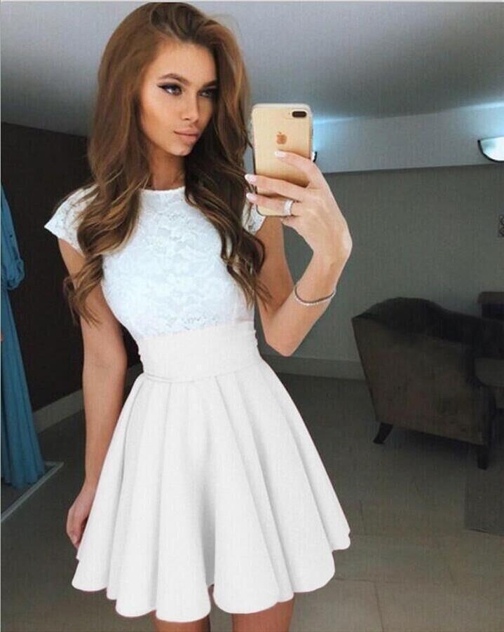 2019 Casual Cute Fashion Women Skirt High Waist Knee Length Pleated Ladies  Skirts Party Beach Summer Skirt From Eventswedding 4ac343a42272