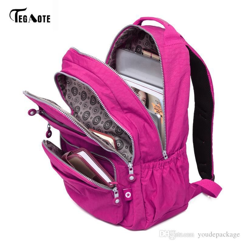 TEGAOTE Brand Laptop Backpack Women Travel Bags 2017 Multifunction Rucksack  Waterproof Nylon School Backpacks For Teenagers Girl Backpacks Toddler  Backpack ... 2f7ae7d6c5