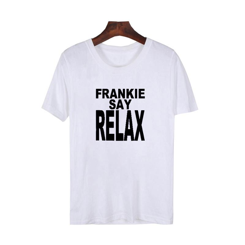 fbab80fae Women's Tee Friends T Shirt Frankie Say Relax T Shirt Women's Ross Rachel  Tshirt Fashion Tv Show Tees Men Women Summer Tops