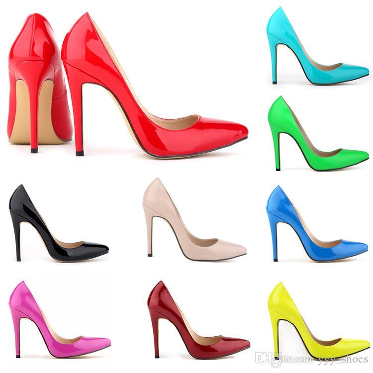 Banquet Party Wedding Single Shoes Heel 11 cm Womens Elegant Pointed Toes Shoes Graduation High Heels Shoe Ladies Stilettos