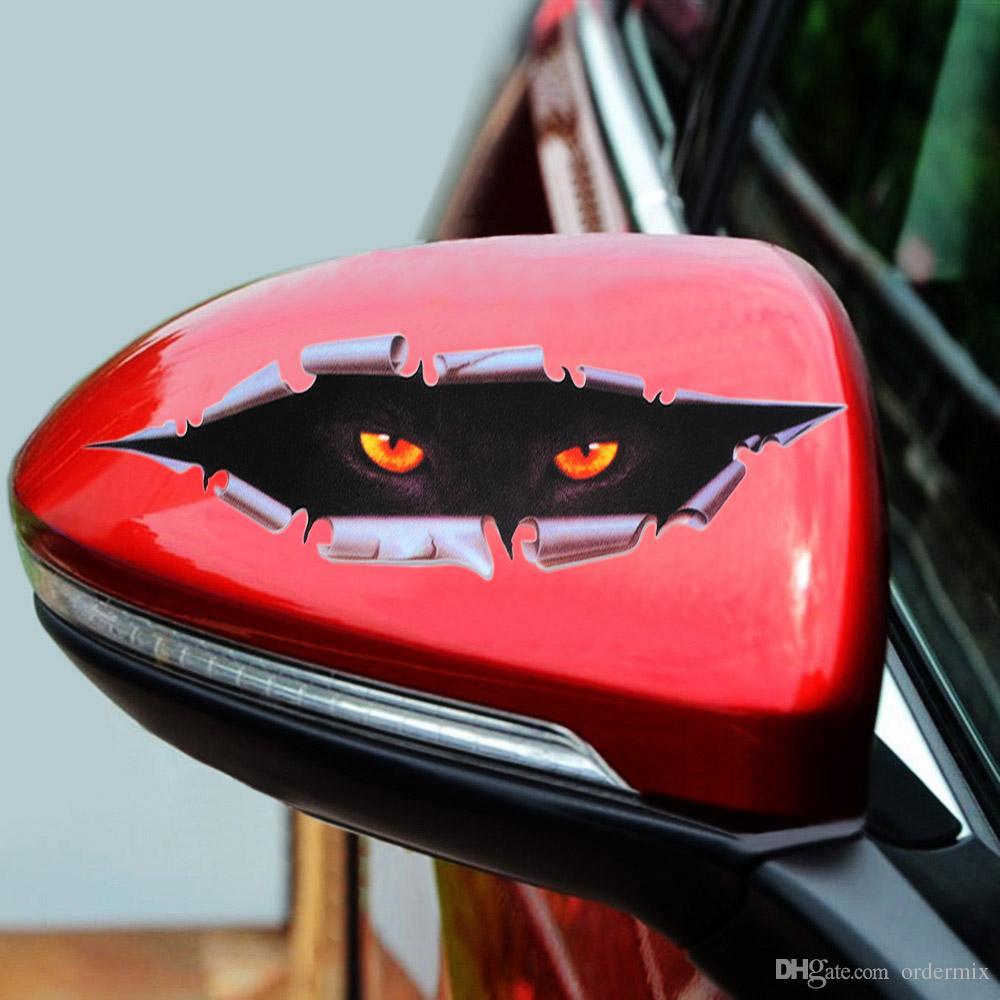 Serin 3D Araba Styling Komik Kedi Gözler Peeking Sticker Su Geçirmez Peeking Canavar Oto Aksesuarları için Tüm Vücut Kapak Oto Araba DIY