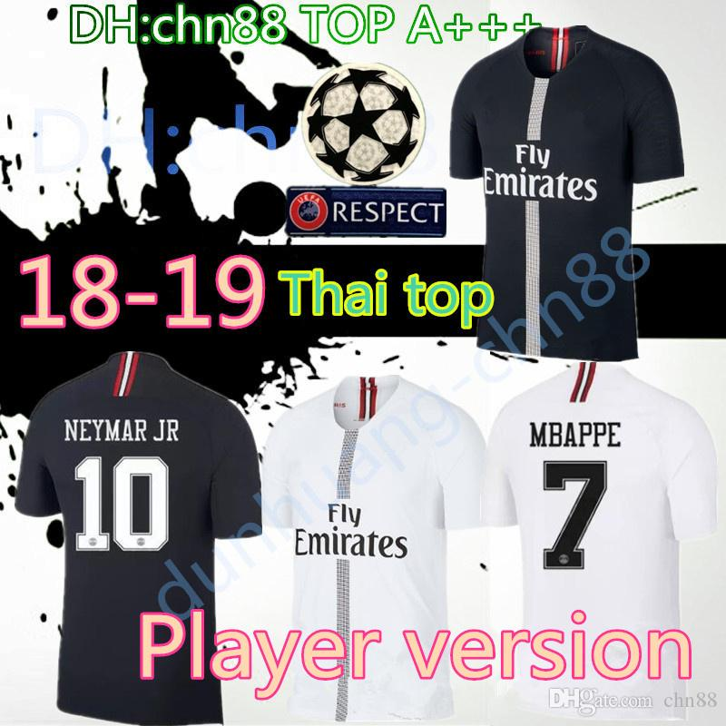 591361d21 2019 18 19 PSG Jordam Edition Player Version Soccer Jersey Paris Jersey  Home Slim Fit Match Worn Issued Football Shirts Mbappe Cavani Champions  From Chn88