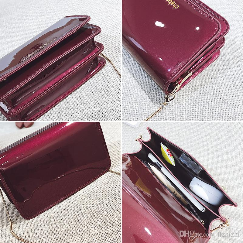 New small package for 2018.Coat of paint.Chain and mirror Single shoulder bag.Stylish, simple and elegant ladies single shoulder bag.T426