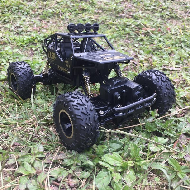 Wrangler alloy remote controlled toy car, crash-resistant stunt buggy, 2.4G four-wheel drive climbing Bigfoot racing