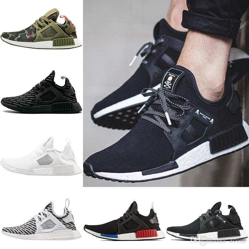 best website 1dad6 cb414 2018 NMD XR1 Mens Running shoes OG Mastermind Japan Triple Black White  Zebra Olive Camo Men Women Primeknit Sports Sneakers Size 5-11