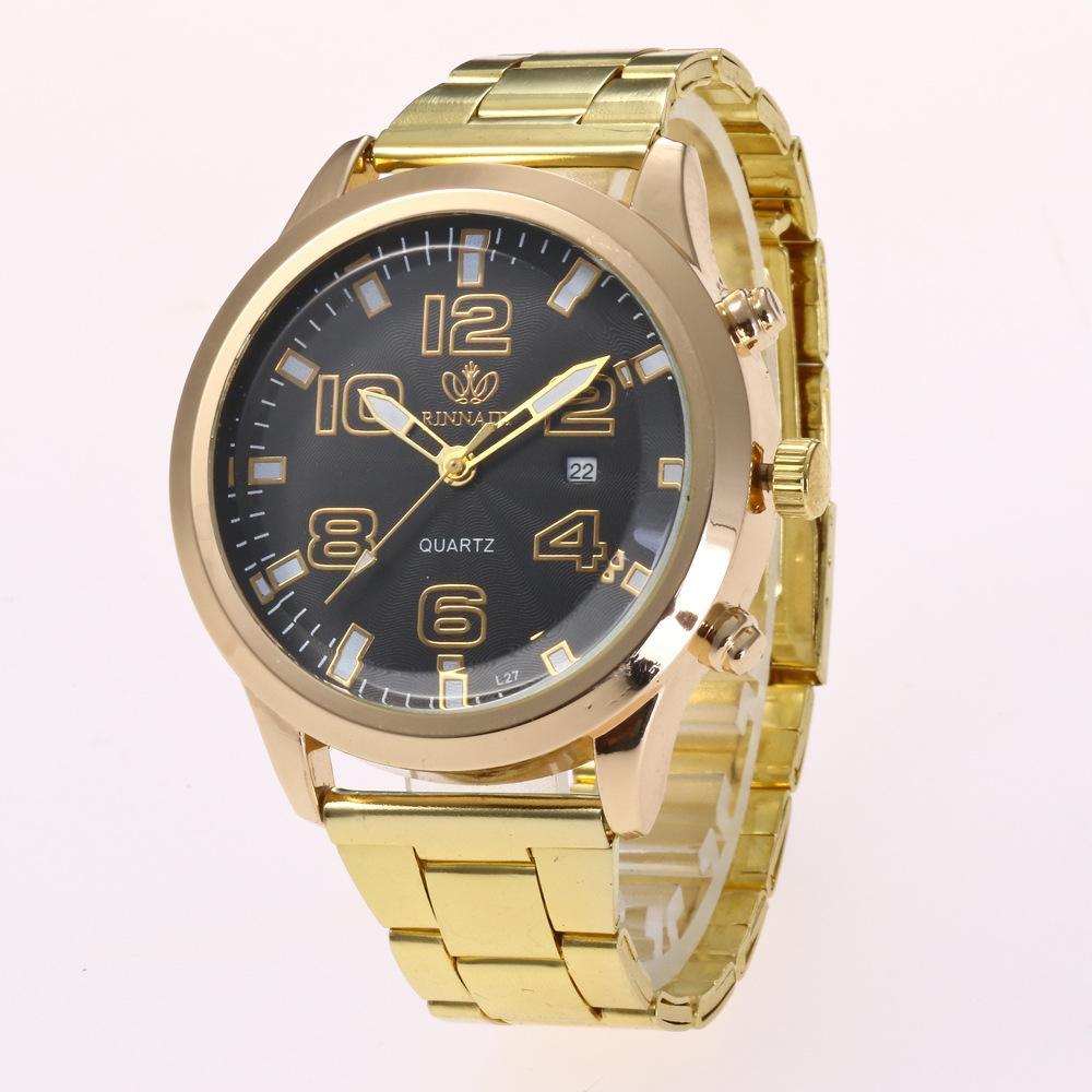 ad54cc057 Compre Nuevos Relojes Para Hombres Reloj De Pulsera De Acero Inoxidable De  Aleación De Aluminio Reloj Analógico Reloj De Cuarzo Para Hombres  Calendario ...